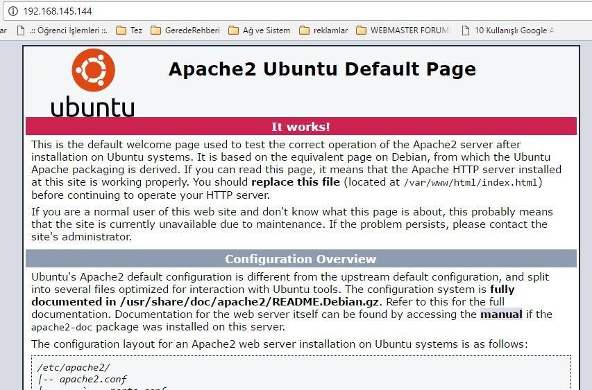 Ubuntu 16.04 Linux, Apache, Mysql ve PHP (LAMP) Kurulumu