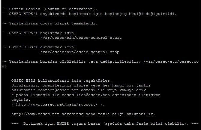 Ubuntu Sunucuya Ossec Kurulumu