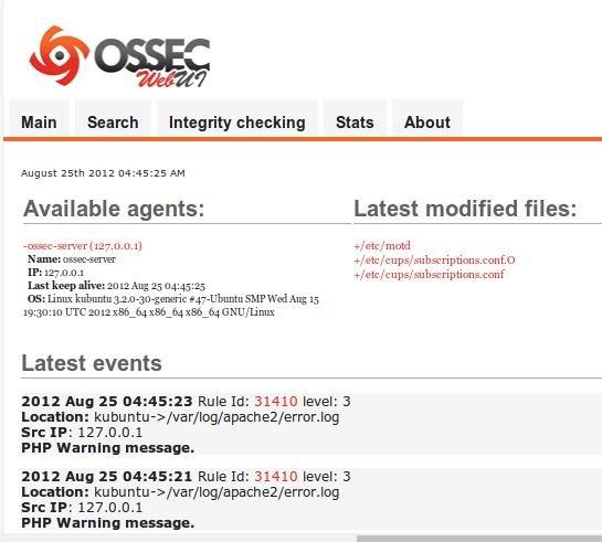 Ossec Web Arayüzü Kurulumu
