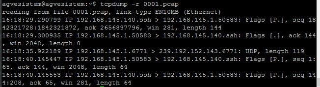 Linux Tcpdump Komutları
