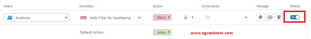Sophos Firewall Web Filter Ekleme