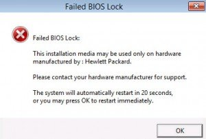 Failed BIOS Lock