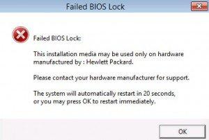 Failed BIOS Lock