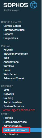 Sophos XG Firewall Yedek Alma ve Yedekten Dönme İşlemi