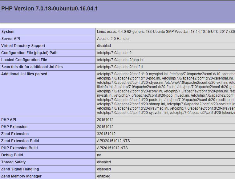 Ubuntu 16.04.2 LTS de PHP7 Kurulumu