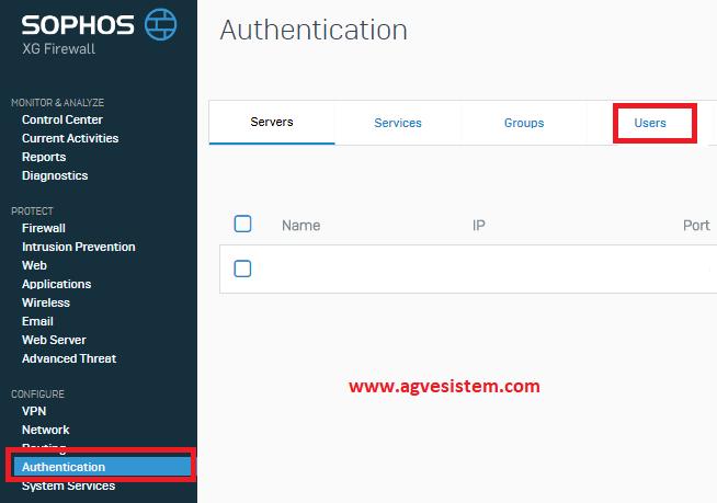 Sophos XG Firewall'da Uzaktan Erişim için SSL VPN Ayarı