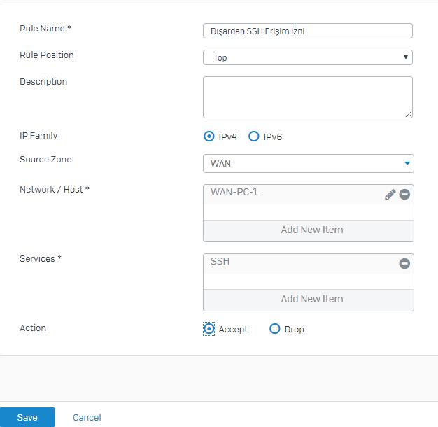 Sophos XG Firewall Şifre ve Aygıt Erişim Ayarları