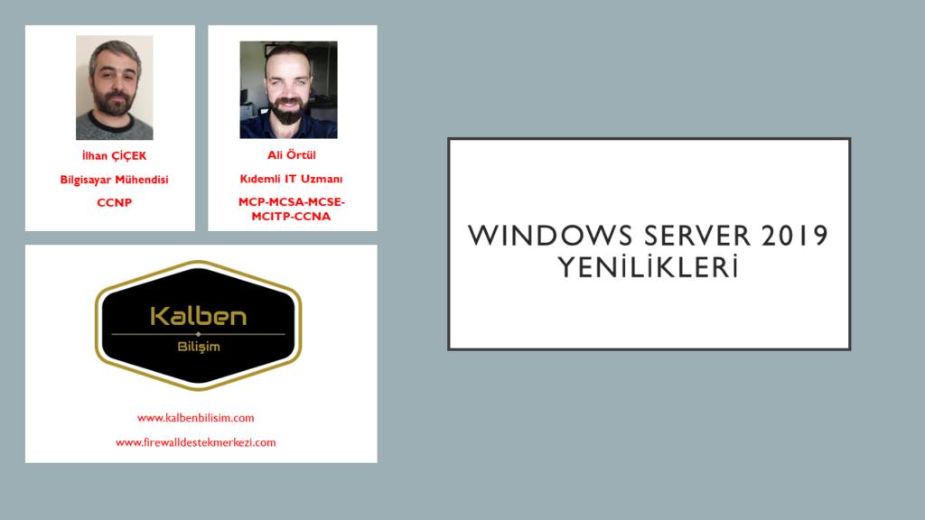 Windows Server 2019 Yenilikleri