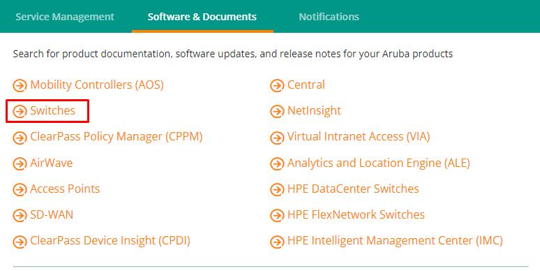 Aruba Support Portal